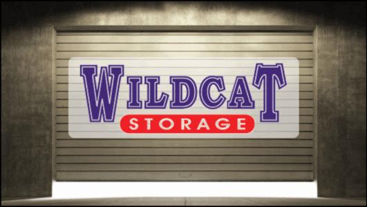 storage unit door with Wildcat Storage logo