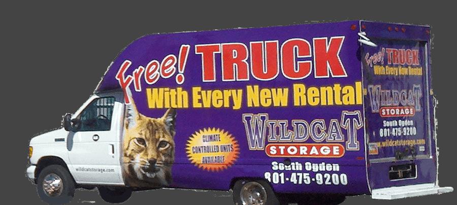 Wildcat Storage moving truck